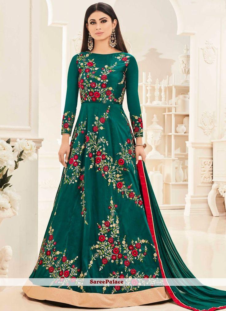 Mouni Roy Embroidered Work Floor Length Anarkali Salwar Suit