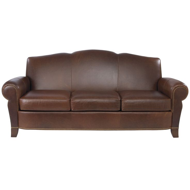 Sofa Leather Workshop: Paloma Three-Cushion Leather Sofa