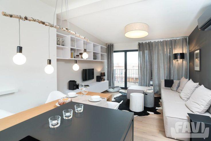 Skandinavské obývací pokoje inspirace - Interiér mini bytu, Studánka   Favi.cz