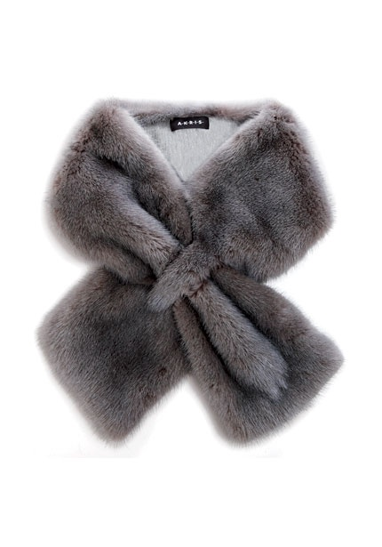 Akris gray long-hair mink collar; $1,580. (akris.ch)