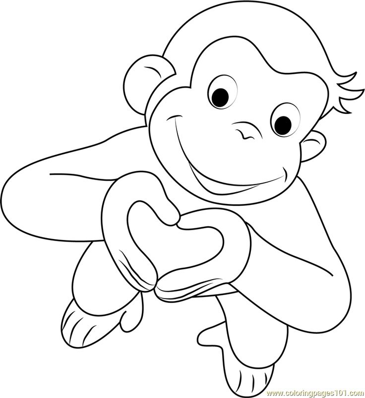 236 best curious george images on pinterest curious for Curious george printable coloring pages