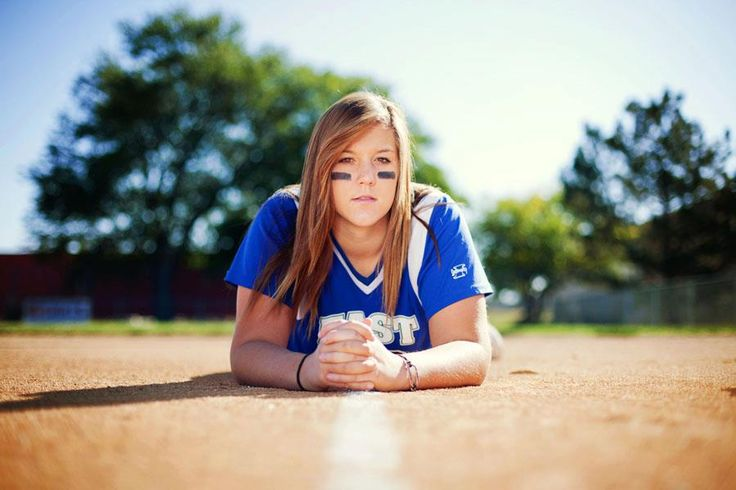 Senior softball photography. Like the perspective.