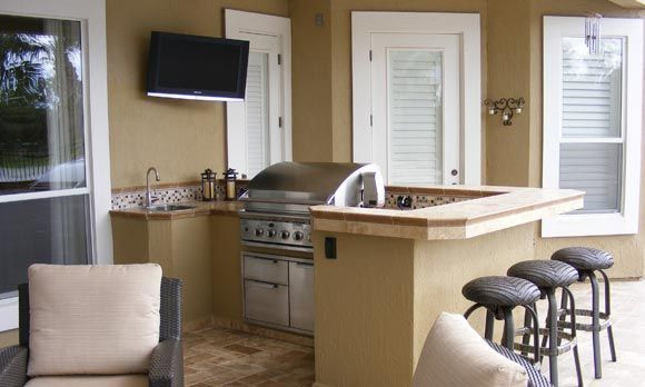 Beautiful kitchens on a budget outdoor kitchen on a for Backyard kitchens on a budget