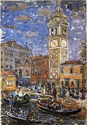 San Maria Formosa, Venice - Maurice Prendergast, c.1911-12