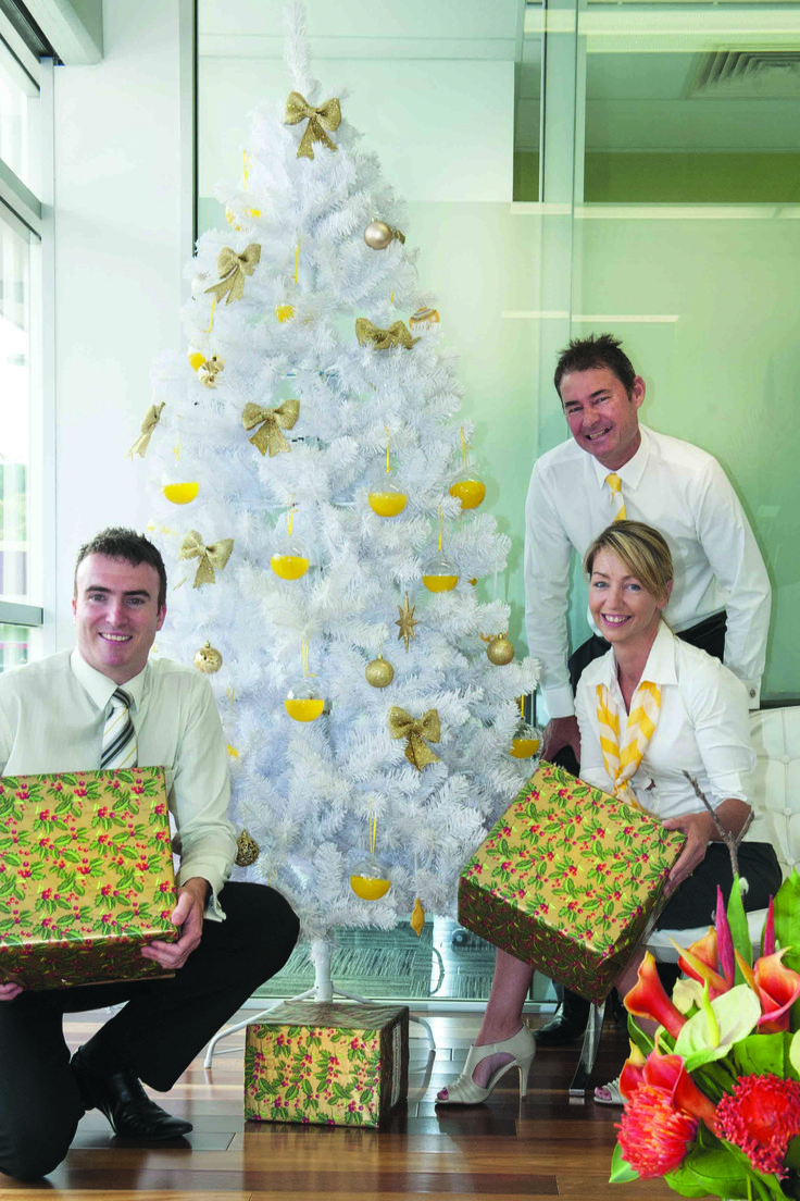 This year Ray White Mount Barker is asking the community to share the spirit of Christmas and donate presents to families and children in need and take part in in the campaign A Little Ray of Giving. Dave Parkins with Gaye and Murray Story by the tree where you can place your donations. Photo by John Hemmings. Like us on Facebook at 'The Weekender Herald' and read more online at http://adelaidehills.realviewtechnologies.com/