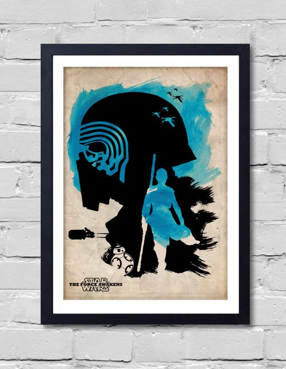Vintage Star Wars Poster. the force awakens by POSTERSHOT on Etsy