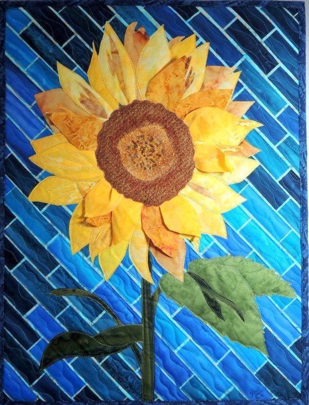 560 best quilts - floral art images on Pinterest | Quilt art, Flower ...