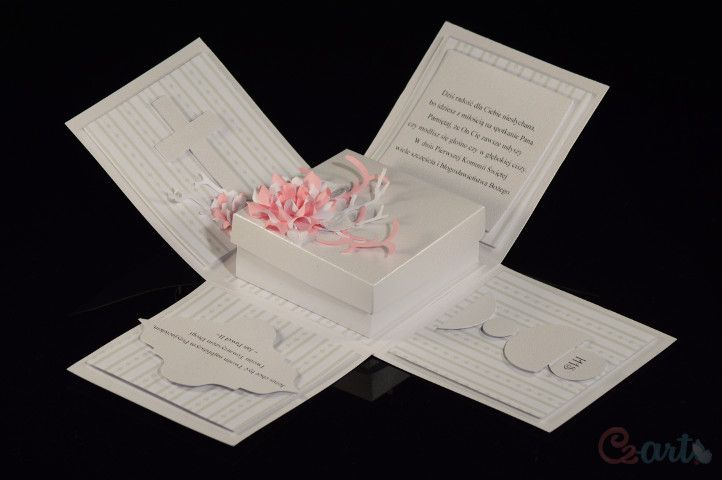 """Kartka prezent """"I Komunia Święta"""" - Cz-art-Laboratorium-Kreatywnosci - Dary pieniężne"""