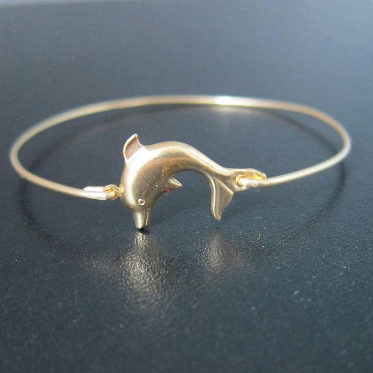 dolphin+necklace | Dolphin Bracelet, Dolphin Bangle Bracelet, Dolphin Jewelry, Sea Themed ...