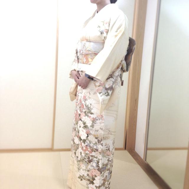 Today's Kimono. Houmongi.