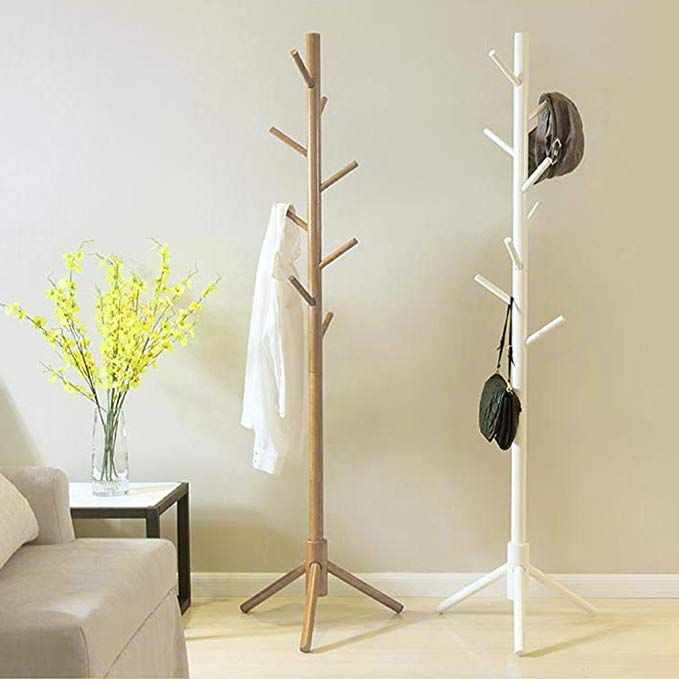 Blackpoolal 175cm Wooden Coat Rack Stand 8 Hooks Clothes Stand