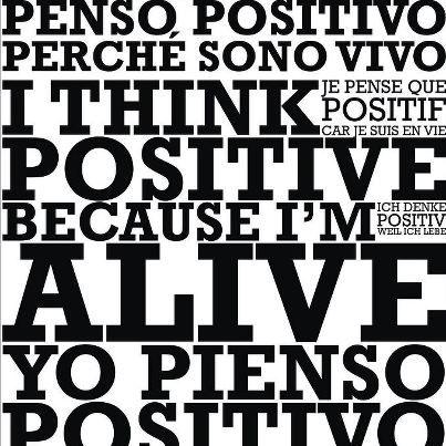 yo-pienso-positivo. El poder de la mente es muy fuerte. Por ende, aprendamos a pensar en positivo para atraer lo que realmente deseamos.