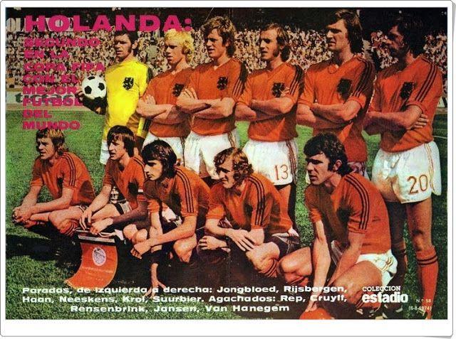Selección de Holanda. Subcampeona del Campeonato Mundial de fútbol de 1974.