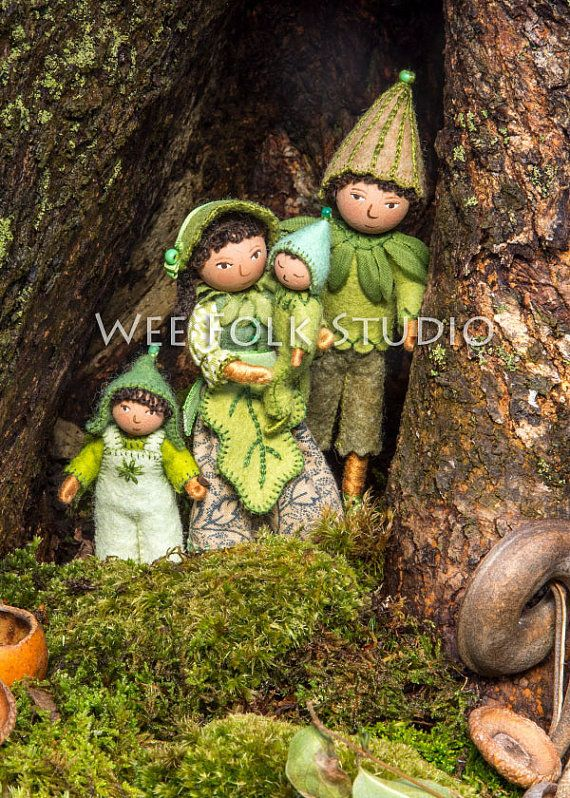 4 card set A Family Outing Wee Folk by SalleyMavor on Etsy