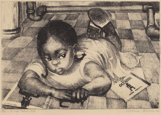 Lucienne Bloch (artist)  American, 1909 - 1999  Untitled (Portrait of Frida Kahlo's Maid's Baby), 1932 lithograph image: 223 x 329 mm sheet: 296 x 413 mm Reba and Dave Williams Collection, Gift of Reba and Dave Williams  2008.115.946