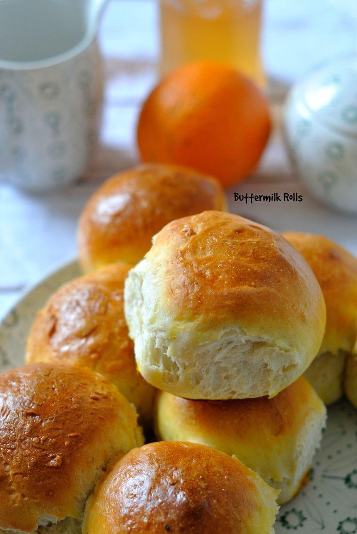 Petits pains doux au lait fermenté - Buttermilk Rolls recette en français