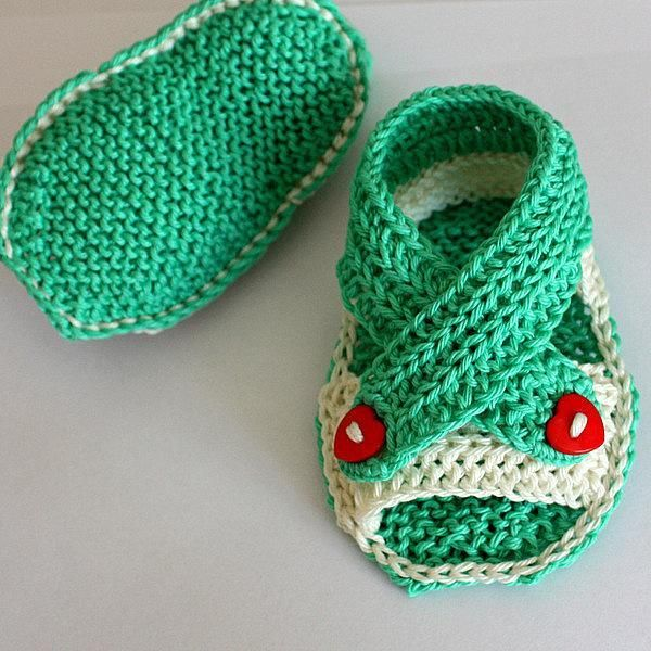 Baby Sandals Knitting Pattern Free