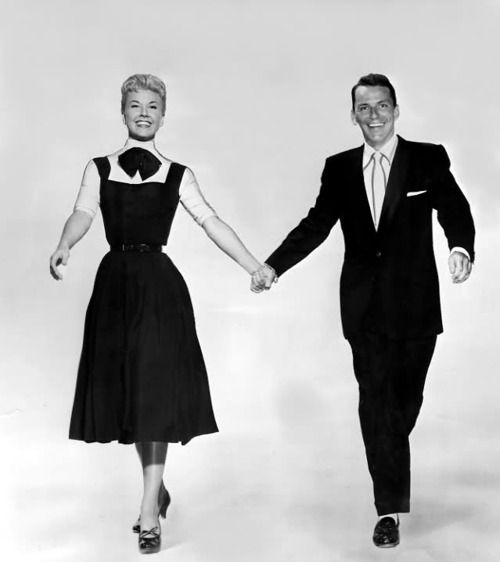 Doris Day and Frank Sinatra in a promotional shot for ''Young at Heart'' (1954)