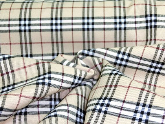 Tan w ivory black amp red scotch tartan plaid poly by livingfabrics
