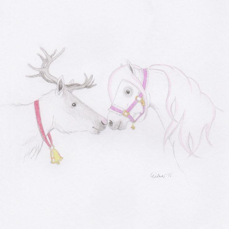 December 7th - Bon is asking Santa's reindeer about flying and Christmas schedules. Joulukuun 7. - Bon kyselee Joulupukin porolta lentämisestä ja joulun aikatauluista.