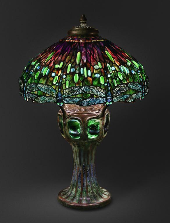 Dragonfly lamp, Tiffany, attributed to Clara Pierce Wolcott Driscoll