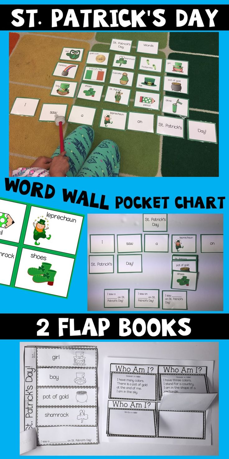 Have fun this St. Patrick's Day with these vocabulary cards! They can be used in many ways: Use as an anchor chart for writing. Use on your pocket chart as an interactive sentence frame. Play Whoops! Write riddles of the words on the cards. Included: 16 vocabulary cards with pictures in color and black and white. Whoops Cards! Who Am I Flap Book activity (two pages) St. Patrick's Day Flap Book(two pages)