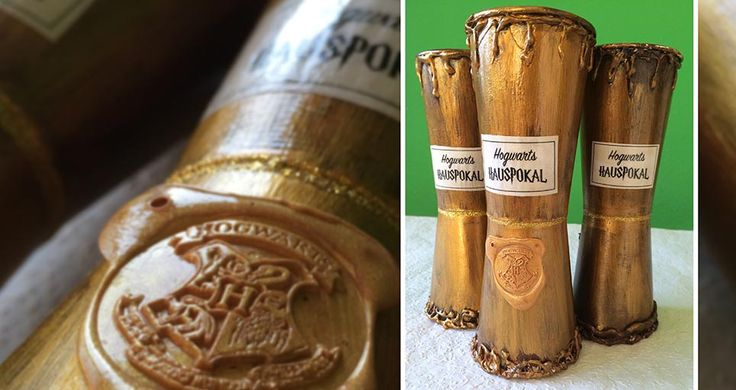 Hogwarts Hauspokal DIY - Harry Potter Party Teil 2. Tutorial & Videolink zum…