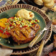 Maple-Mustard Glazed Pork Chops.