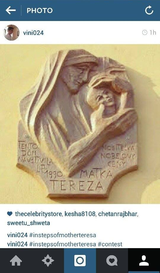 That's a really good one. Thank you Vini for sharing it with us :) #InStepsOfMotherTeresa #Contest
