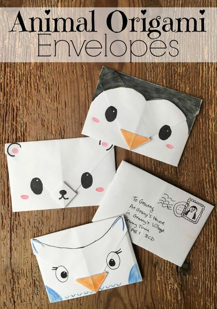 Cute Origami Envelopes - super cute and easy origami envelopes for Winter. These make great Christmas Letters, Thank You Letters, additions to Christmas gifts and tags or little notes to send just because. Love how easy these Animal Origami Envelopes are