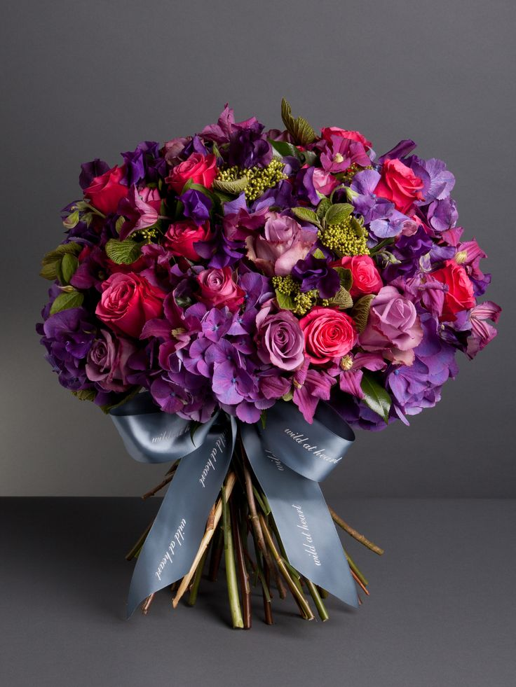 Liberty Bouquet An opulent selection of seasonal flowers inspired by our Nikki Tibbles Wild at Heart Liberty store, a luxurious, seasonal bouquet combining fluffy purple hydrangeas, hot pink and lilac roses with scented sweet peas and garden clematis. Prices from £60