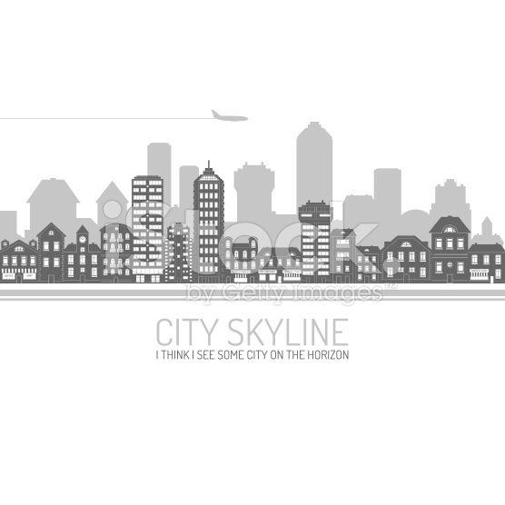 City Skyline Black royalty-free stock vector art