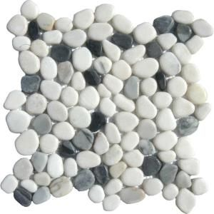 MS International Black/White Pebbles 12 in. x 12 in. x 10 mm Marble Mesh-Mounted Mosaic Tile-THDW1-SH-PEB at The Home Depot