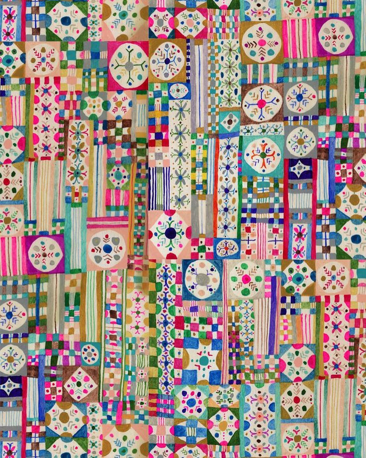 Relaxed OCD colour explosional geometrical painting #illustration #repeat #pattern #monikaforsberg #gouache