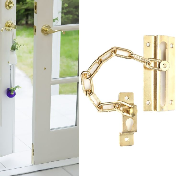 3 inch Gold Plated Home Door Safety Security Chain Guard Slide Bolt Catch Latch Lock