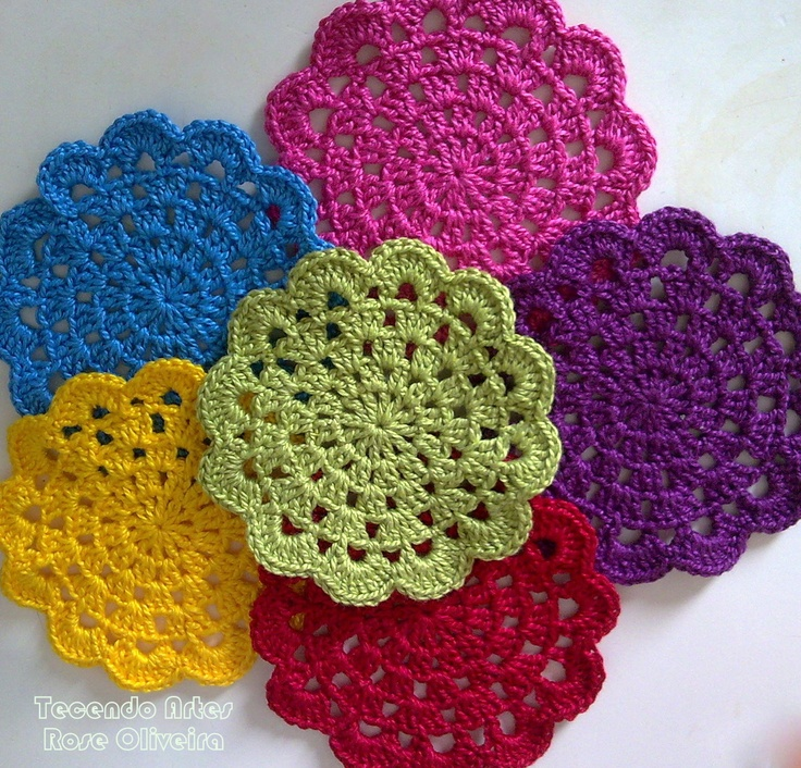 "Dishcloth In Spanish: Granny ""squares"" - Would Make A Cute Dishcloth"
