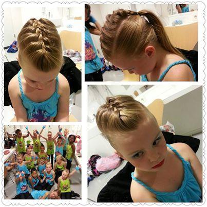 Haarstijl voor streetdance dansgroep @dansstudio Yvette http://www.littledivashairstyle.com