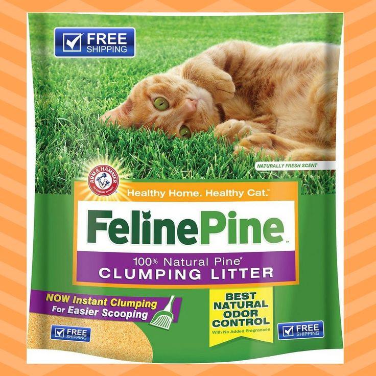 Feline Pine Original Cat Litter 8 lb Pure Highly Absorbent