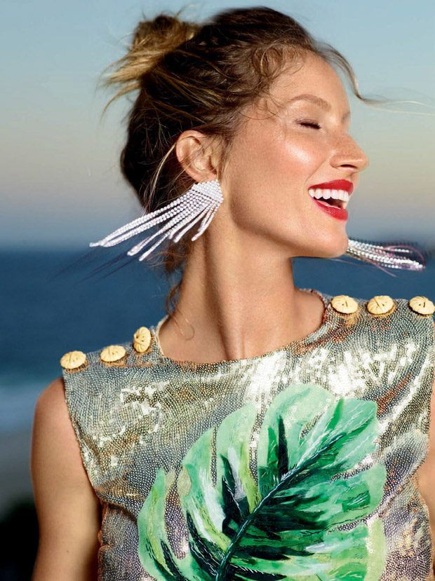 Gisele Bundchen is in a Festive Mood for Vogue Brazil November