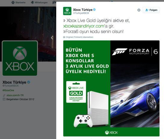Xbox Live: Forza Motorsport 6 gratis!
