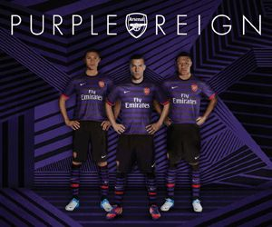 #Arsenal Purple Reign Away Kit   Come on ya gunners!!! With Vermaelen as our Captain, i'm sure we're gonna win silverware this year!  Victoria Concordia Crescit