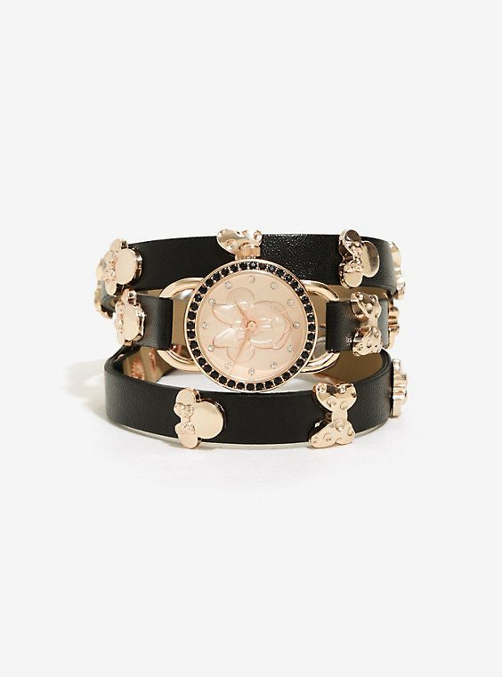 Disney Minnie Mouse Rose Gold Wrap Watch,