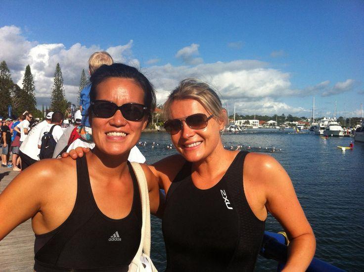 Raby Bay triathlon  in Raby Bay, QLD
