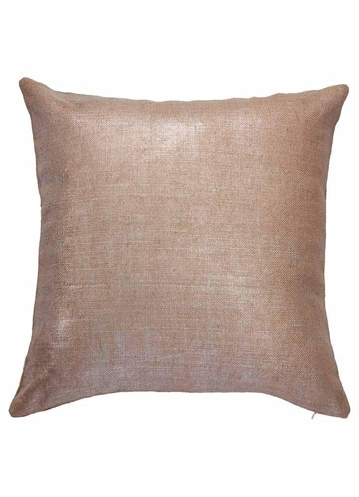 Shimmer Pillow In Champagne Beige Design By Jaipur Decorative