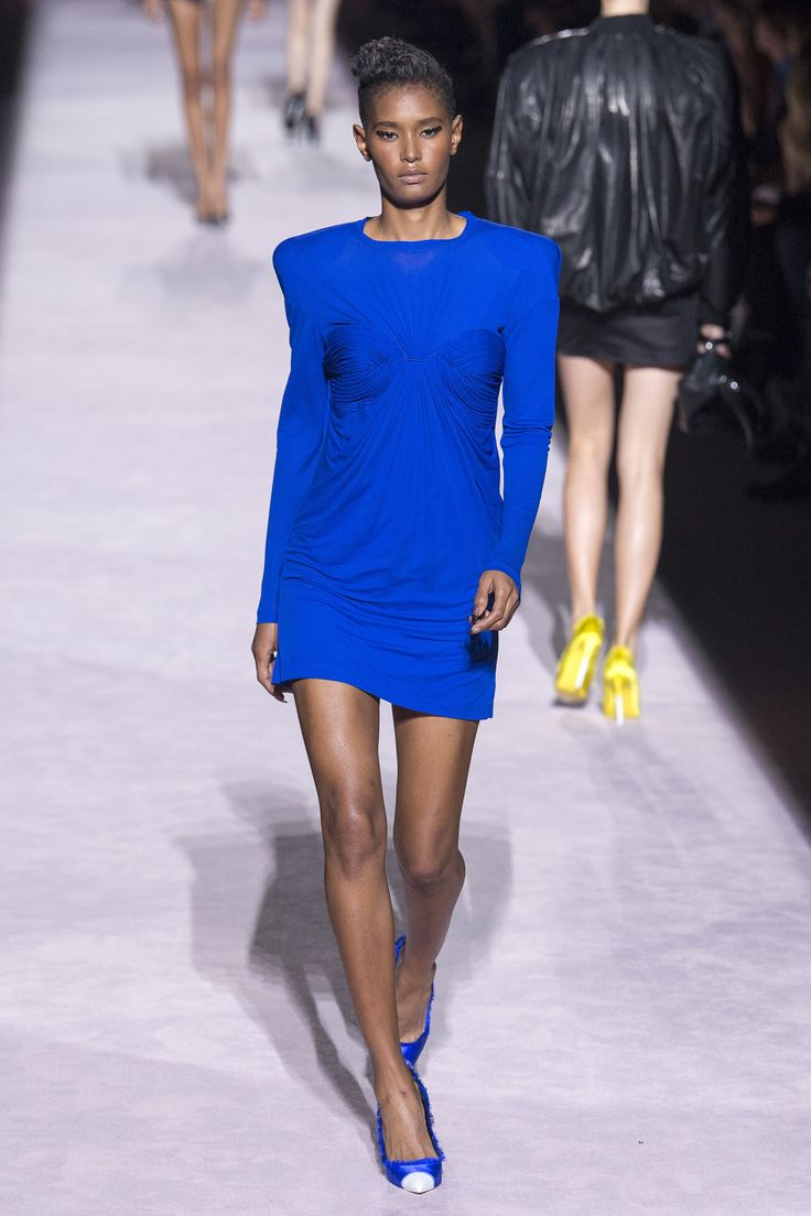 Glam Mini in Cobalt Blue at Tom Ford | Spring 2018 Ready-to-Wear Fashion Show #nyfw