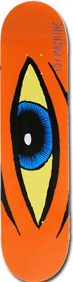 The Sect Eye deck comes, as always, in best Toy Machine quality. The artwork was designed by none other than Ed Templeton, the head of the Bloodsucking Skateboard Company. It is available in various colors and sizes.