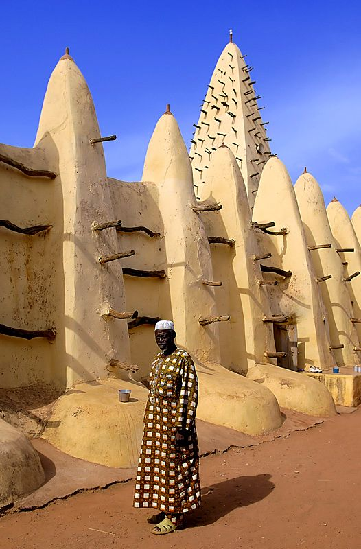 Mali - Africa - Mali's earthen buildings are renowned worldwide for their aesthetic beauty and diversity -  architecture that brings with it major preservation challenges.