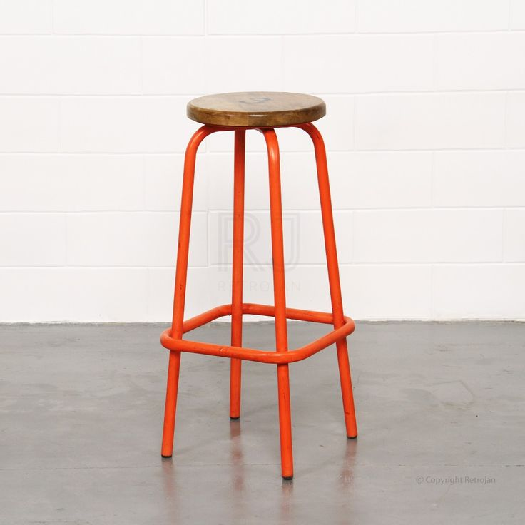 Clifford Industrial Stool - Orange | $99.00