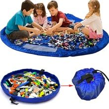 Atacado portátil crianças crianças infantil esteira do jogo do bebê grandes sacos de armazenamento brinquedos organizador 150 cm Boxes Blanket tapete XXL para Lego Toy(China (Mainland))