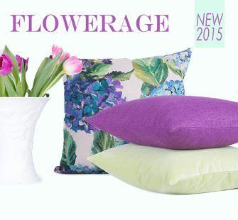 Kissen | Leinen | Blüten | Frühling